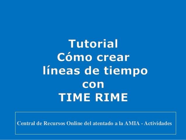 Central de Recursos Online del atentado a la AMIA - Actividades