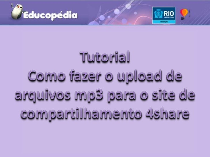 Tutorial Upload mp3 4shared