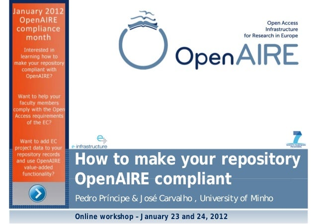 Tutorial OpenAIRE Guidelines (final)