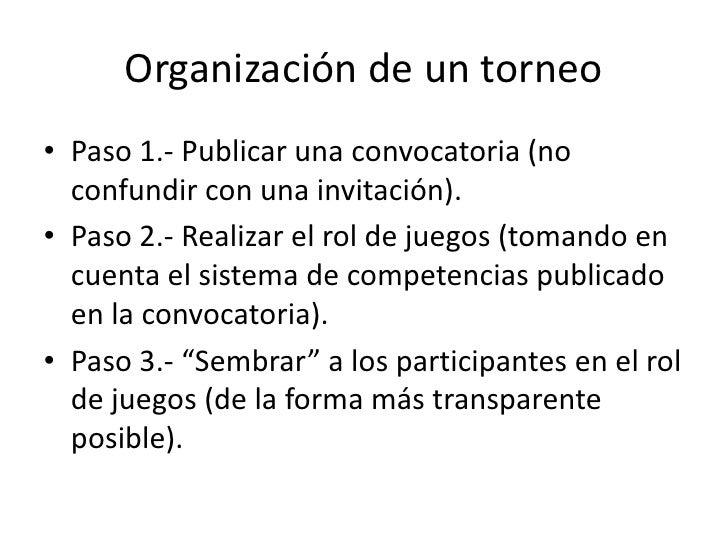 Tutorial organizaci n de un torneo for Organizacion de un vivero