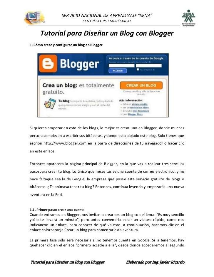 """SERVICIO NACIONAL DE APRENDIZAJE """"SENA""""                                CENTRO AGROEMPRESARIAL      Tutorial para Diseñar u..."""