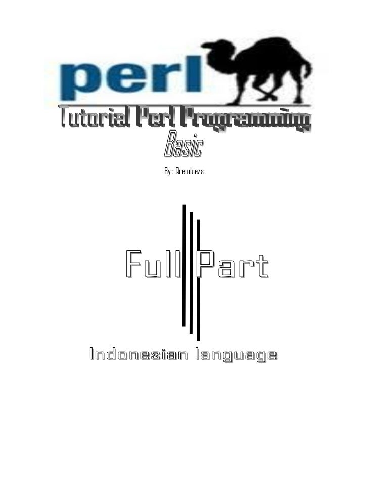 Tutorial perl programming ind ver