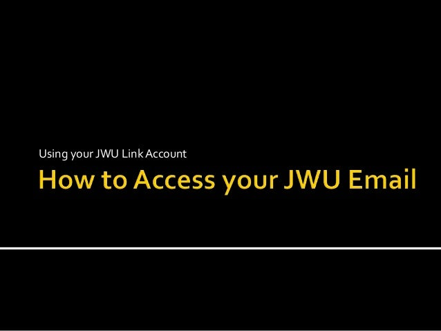 Using your JWU LinkAccount