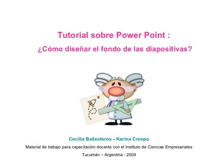 Tutorial Power Point Diseñar Fondo De Diapositivas
