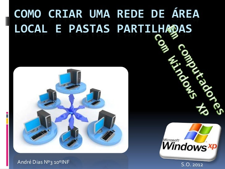 COMO CRIAR UMA REDE DE ÁREALOCAL E PASTAS PARTILHADASAndré Dias Nº3 10ºINF   S.O. 2012