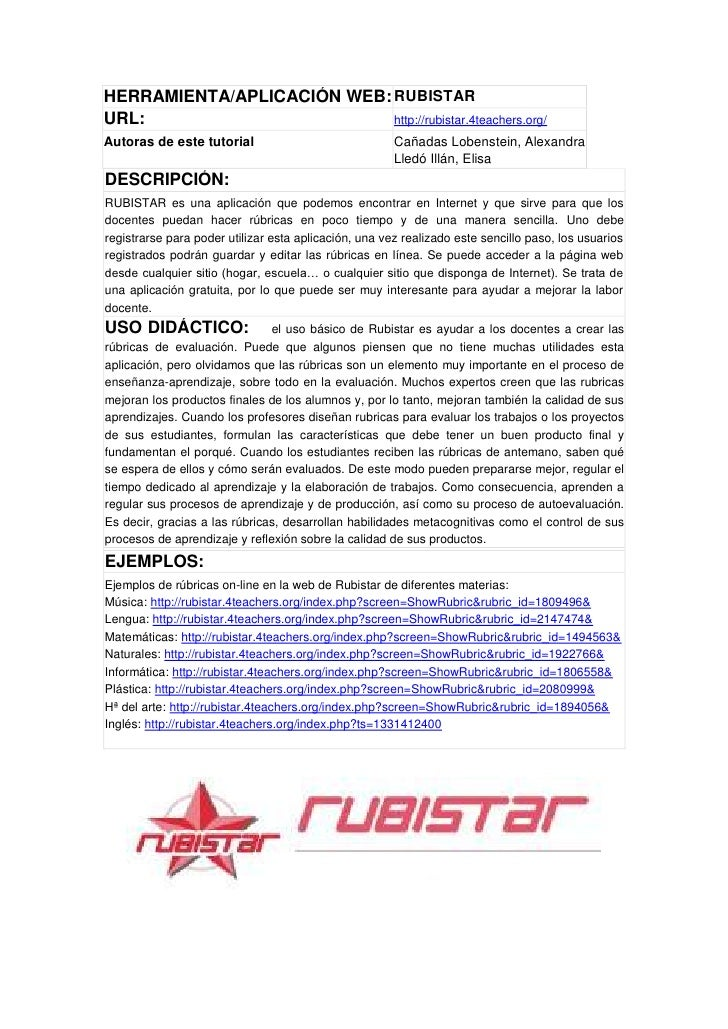 Tutorial rubistar