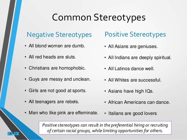 common stereotypes and their impact Stereotypes about indigenous peoples of north america are a particular kind of  the peoples collectively referred to as inuit have their own unique stereotypes.