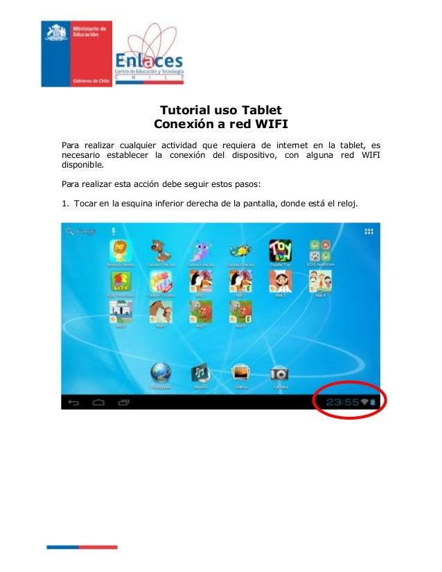 Tutorial Tablet - configuración wifi