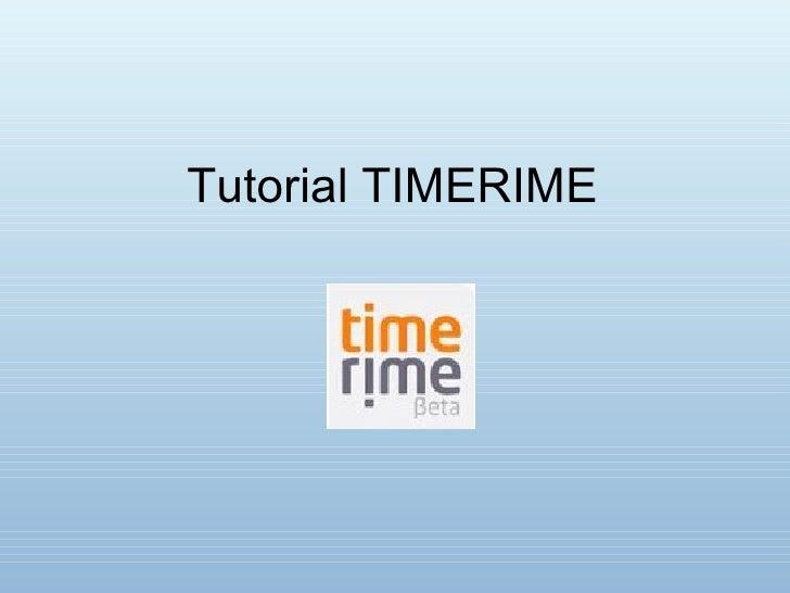 Tutorial TIMERIME