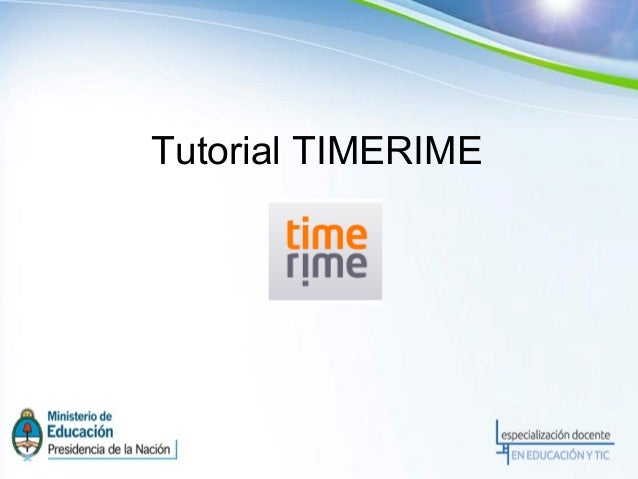 Tutorial TIMERIME