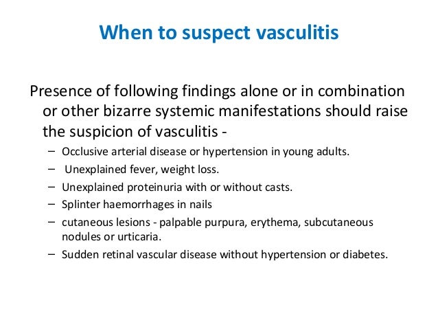 Medical Lecture Notes Online: SYSTEMIC VASCULITIS