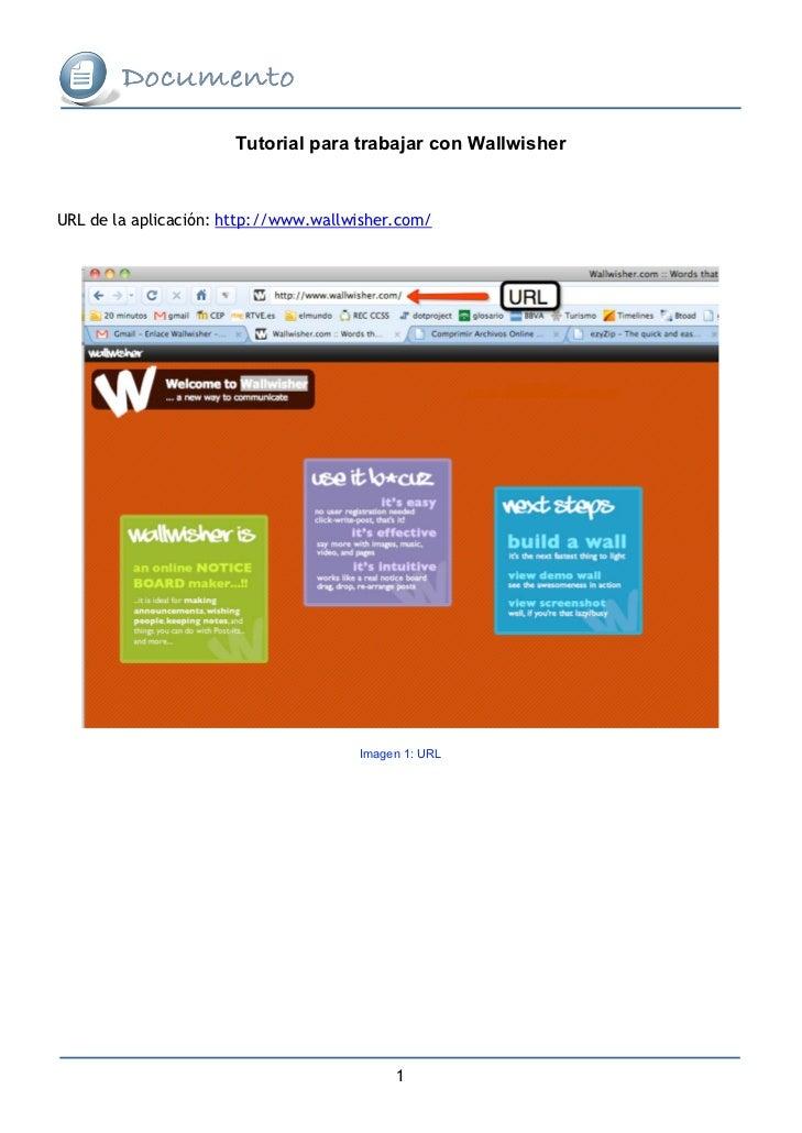 Tutorial para trabajar con WallwisherURL de la aplicación: http://www.wallwisher.com/                                     ...