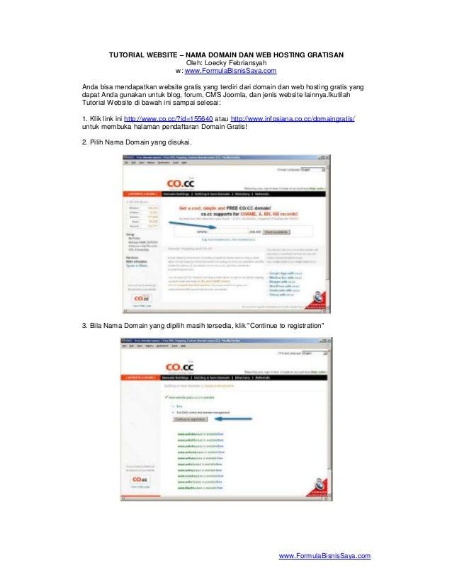 Tutorial website   nama domain dan web hosting gratisan
