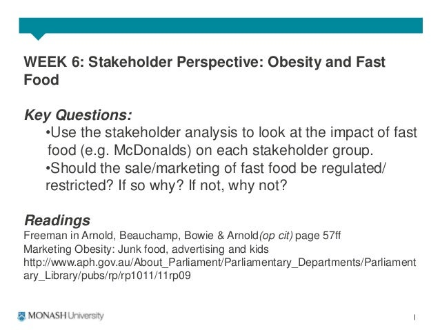 stakeholder mapping for mcdonald A short report on mcdonalds: corporate social responsibility  of other stakeholders mcdonalds appear to have realised the importance of creating.