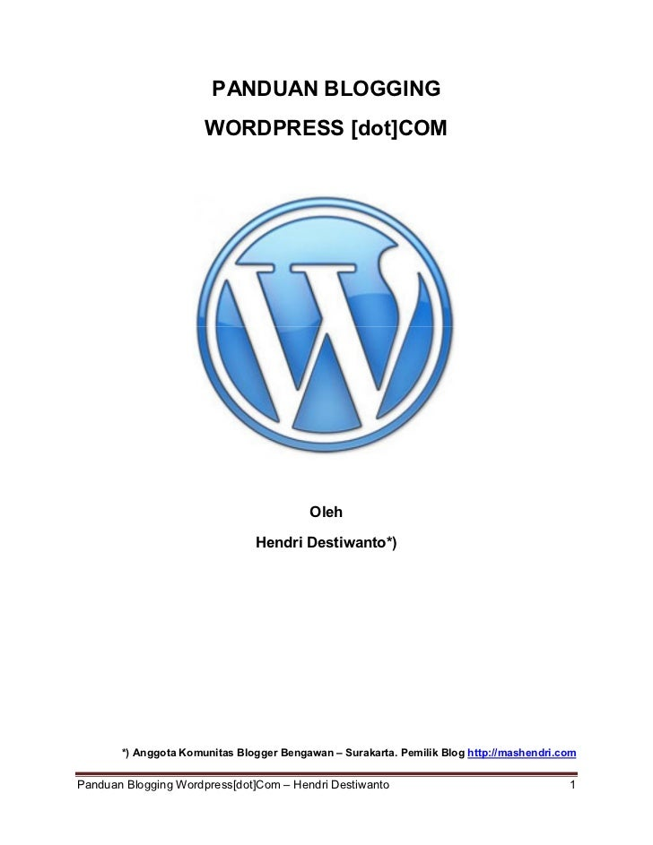 Tutorial wordpress terbaru 2011