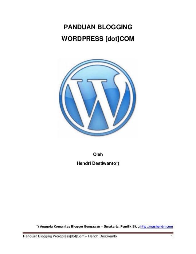 Tutorial wordpress terbaru 2013