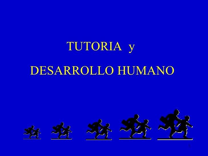 TUTORIA  y  DESARROLLO HUMANO