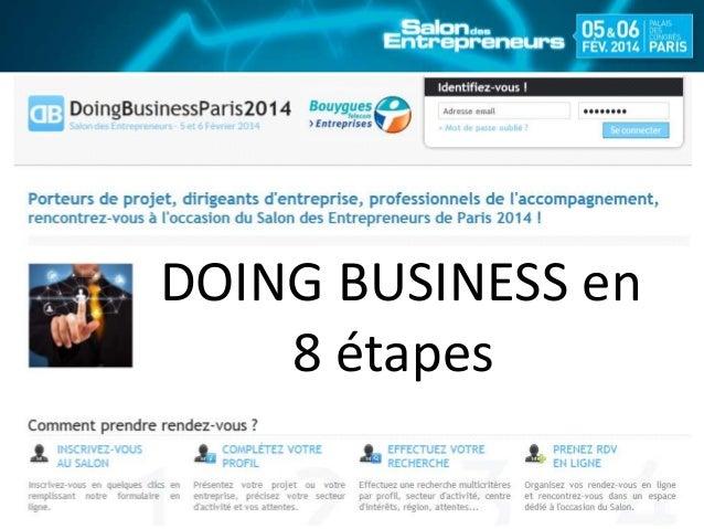 DOING BUSINESS en 8 étapes