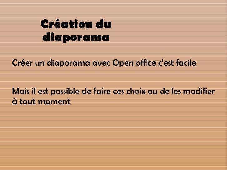 Tutoriel diaporama open office impress - Faire un sommaire sur open office ...
