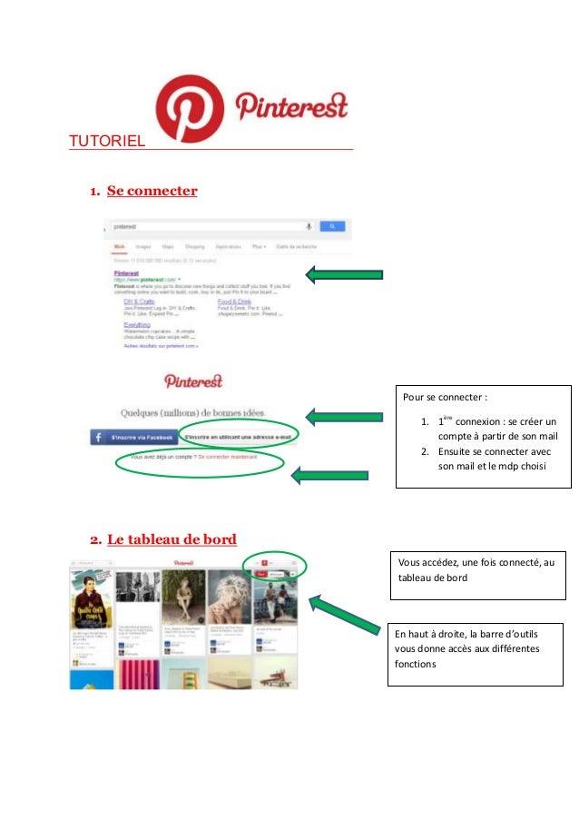 TUTORIEL 1. Se connecter 2. Le tableau de bord Pour se connecter : 1. 1ère connexion : se créer un compte à partir de son ...