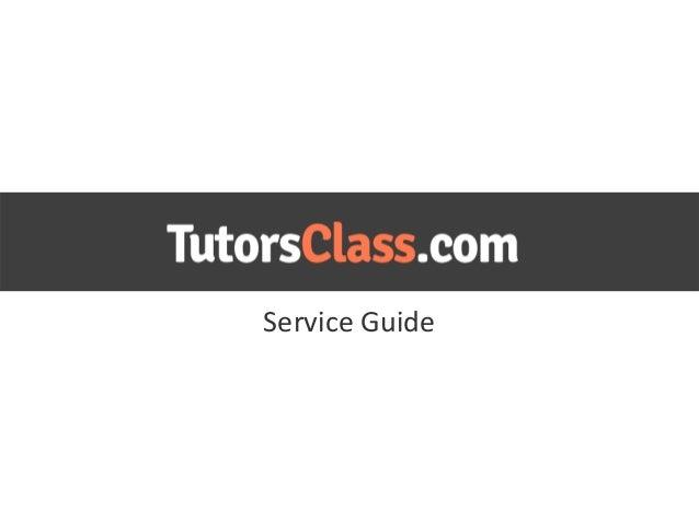 Tutorsclass guide for tutors
