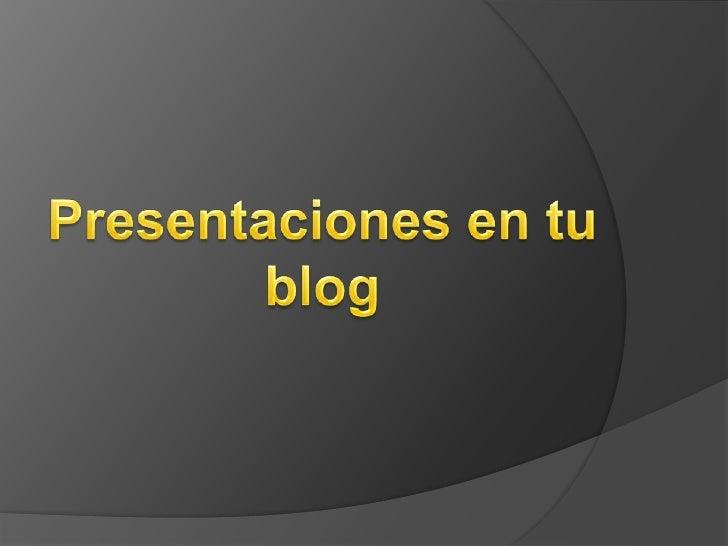Tutorial presentación