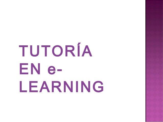 TUTORÍA EN e- LEARNING