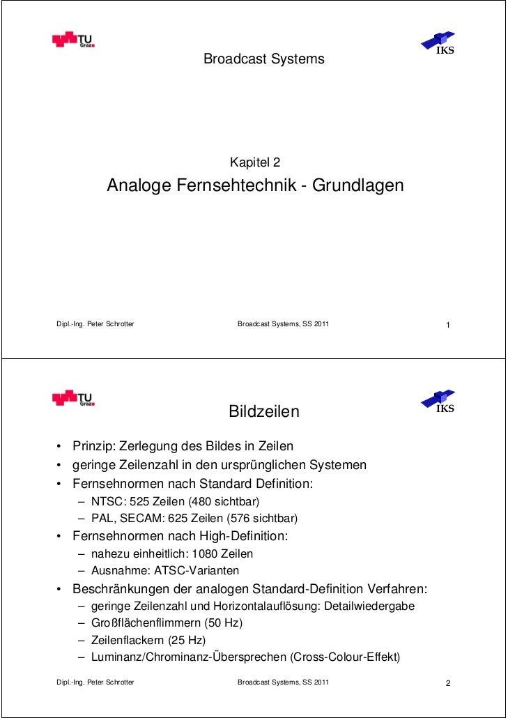 IKS                               Broadcast Systems                                    Kapitel 2                Analoge Fe...