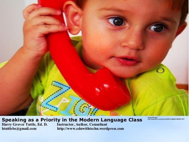 Speaking as Modern Language Priority