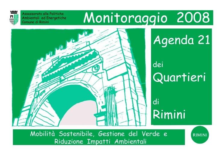 Agenda 21 dei Quartieri di Rimini - Monitoraggio 2008