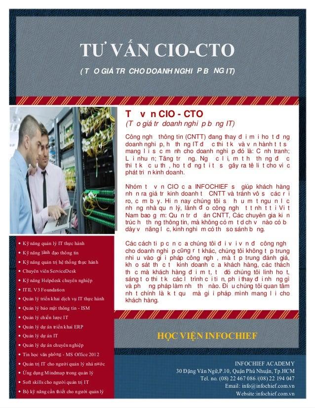 Tư vấn CIO - CTO