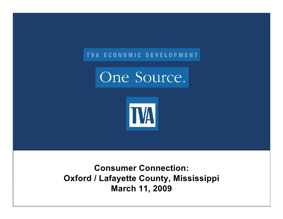 Consumer Connection: Oxford / Lafayette County, Mississippi             March 11, 2009