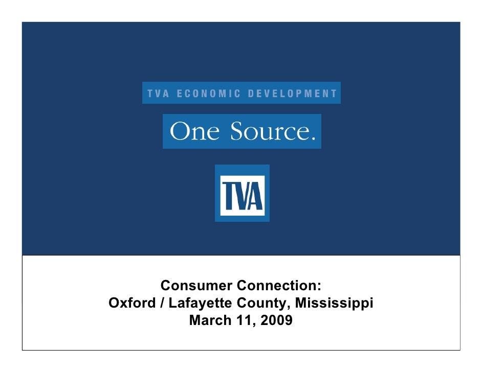 Tva Consumer Connection Oxford La Fayette County  Presentation March 2009