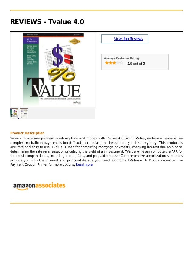 REVIEWS - Tvalue 4.0ViewUserReviewsAverage Customer Rating3.0 out of 5Product DescriptionSolve virtually any problem invol...