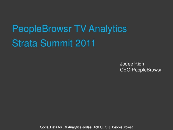 PeopleBrowsr TV Analytics Deck Strata Summit 2011
