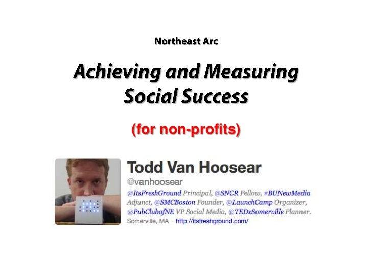 Social Media Success for Non-Profits