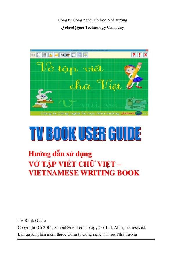 Công ty Công nghệ Tin học Nhà trường School@net Technology Company TV Book Guide. Copyright (C) 2014, School@net Technolog...