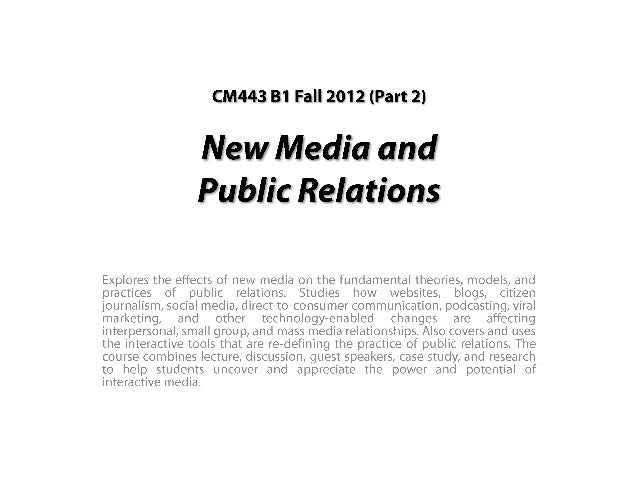 My BU New Media Class (Part 2) #bunewmedia