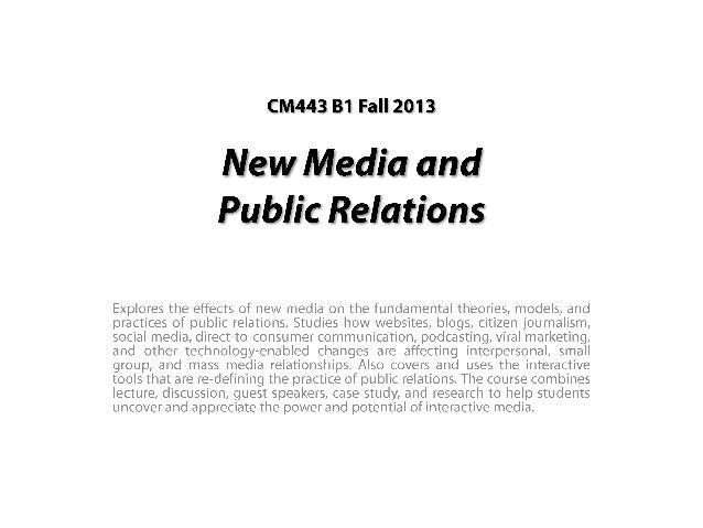 Todd's BU New Media Slides: Fall 2013 First Half