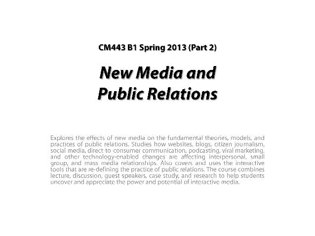 BU New Media Fall 2013 Part 2