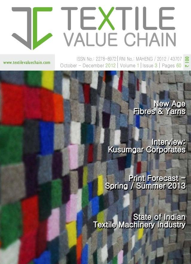 Vol 1,Issue 3 Textile Value Chain