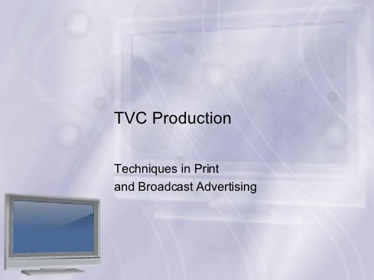Basic TV Ad Production