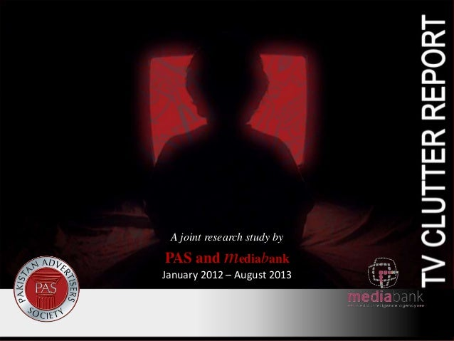 A joint research study by  PAS and mediabank January 2012 – August 2013
