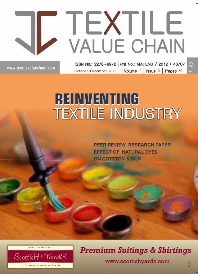 ISSUE -3 OCTOBER-DECEMBER - 2013  TEXTILE VALUE CHAIN  VOLUME - 2  October- December 2013  2  3  80  REINVENTING TEXTILE I...