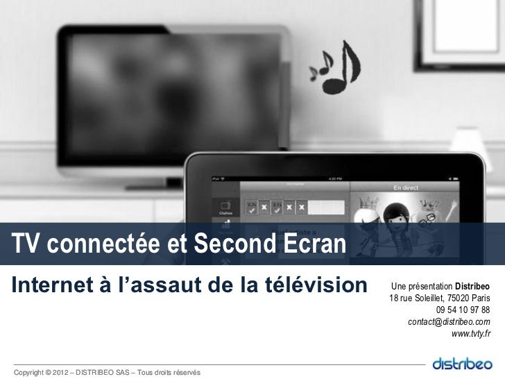 Tv connectée et Second écran // Connected TV and second screen by Distribeo