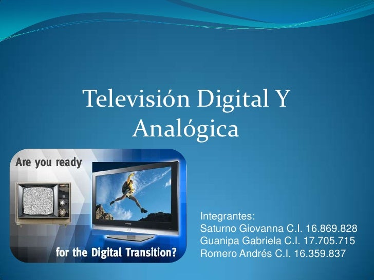 Tv digital y analogica.