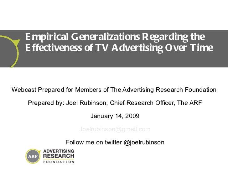 Tv Effectiveness Webcast Rubinson