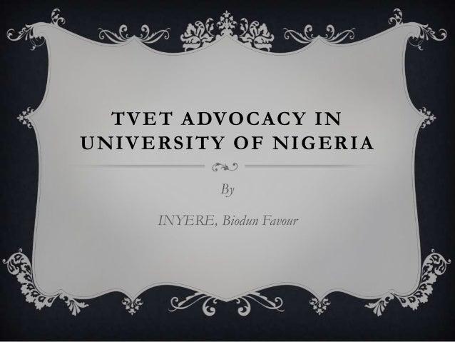 TVET Advocacy in University of Nigeria
