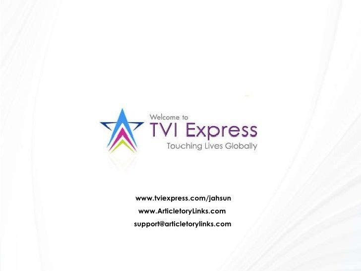 www.tviexpress.com/jahsun www.ArticletoryLinks.com [email_address]