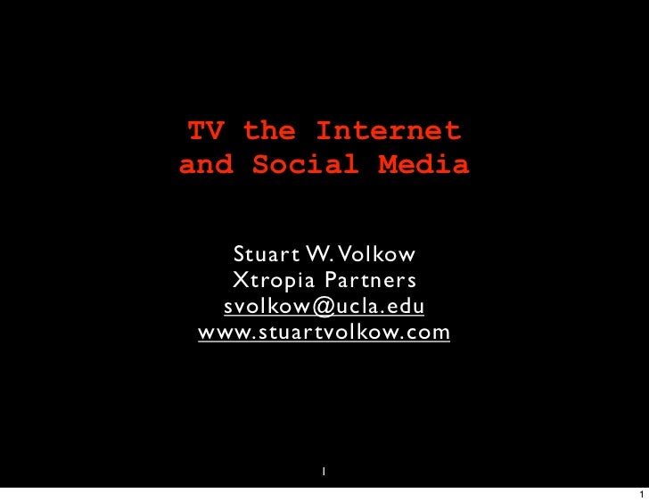TV, The Internet and Social Media: Executive Briefing
